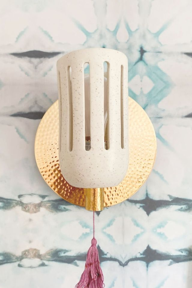 mid century madison bohemian wall sconce from anthropologie | Poplolly co