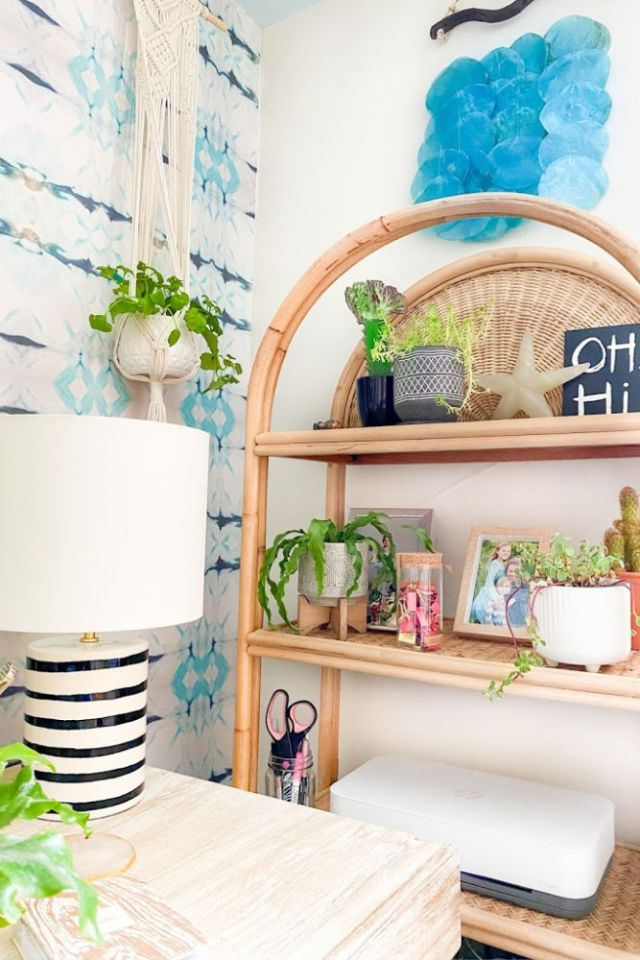 rattan bookshelf from urban outfitters | Poplolly co