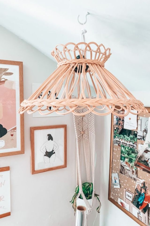rattan pendant light from Urban Outfitters | Poplolly co