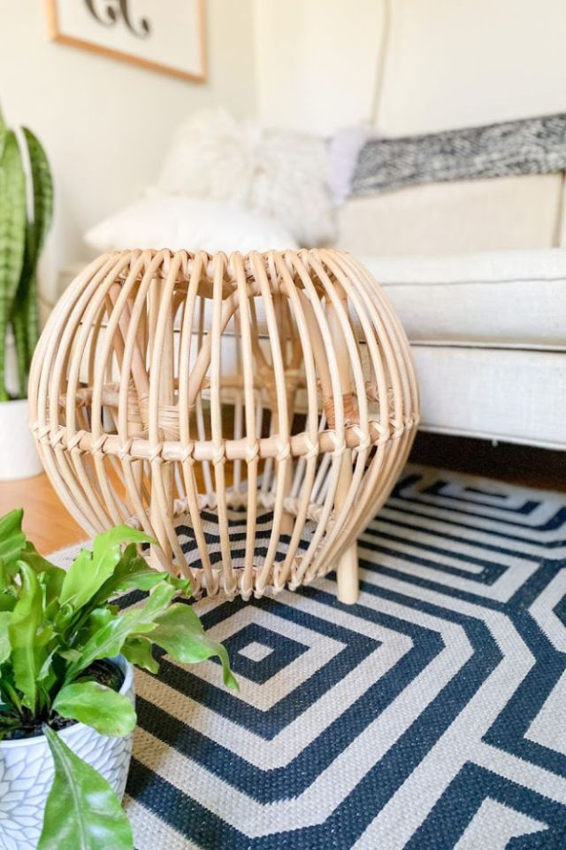 rattan footstool from home goods | Poplolly co