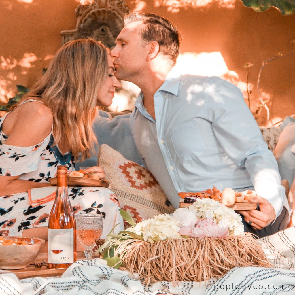 5 tips to create a magical patio experience with Flat Top Hills Wines | Rosé | happy hour ideas | backyard decor | Poplolly co