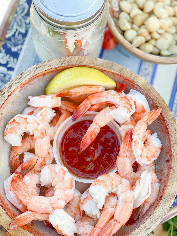 shrimp cocktail for picnic food ideas   Poplolly co