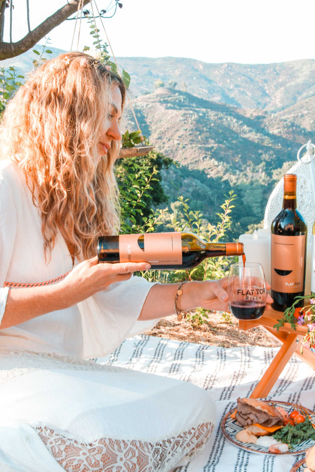Flat Top Wines Red Blend for a romantic picnic date | Poplolly co