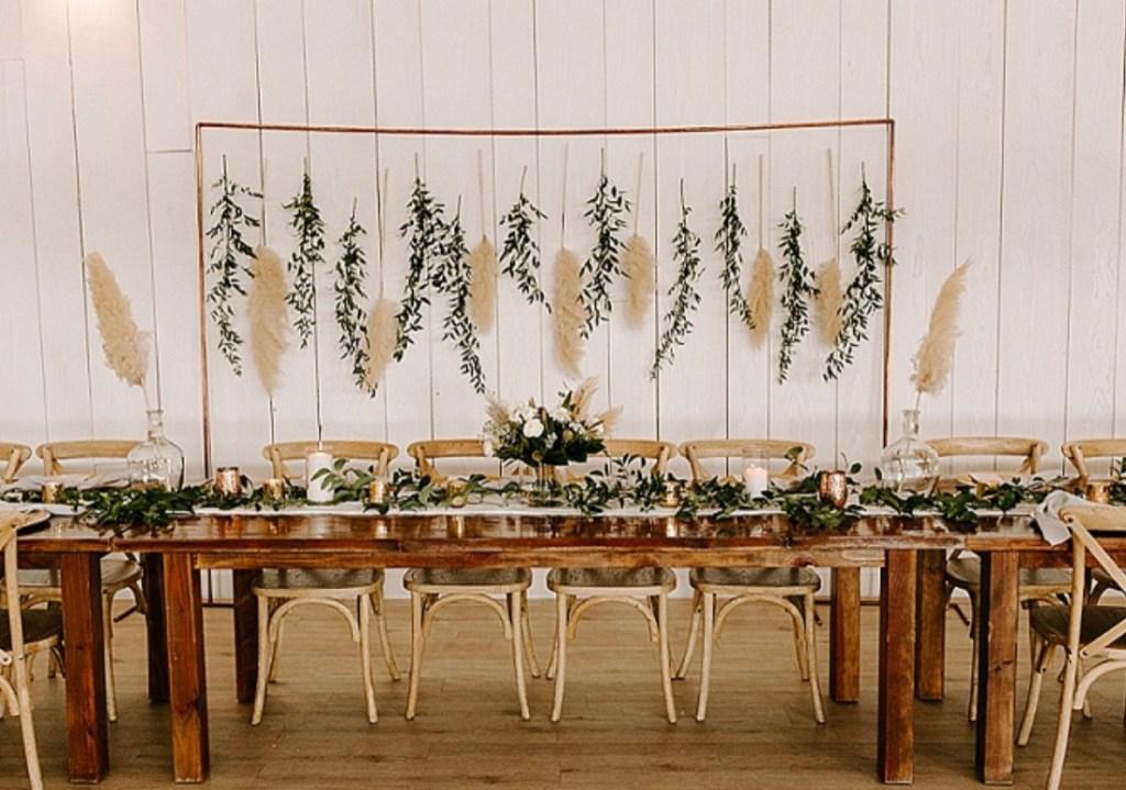 boho wedding ideas | pampas grass decor | Poplolly co