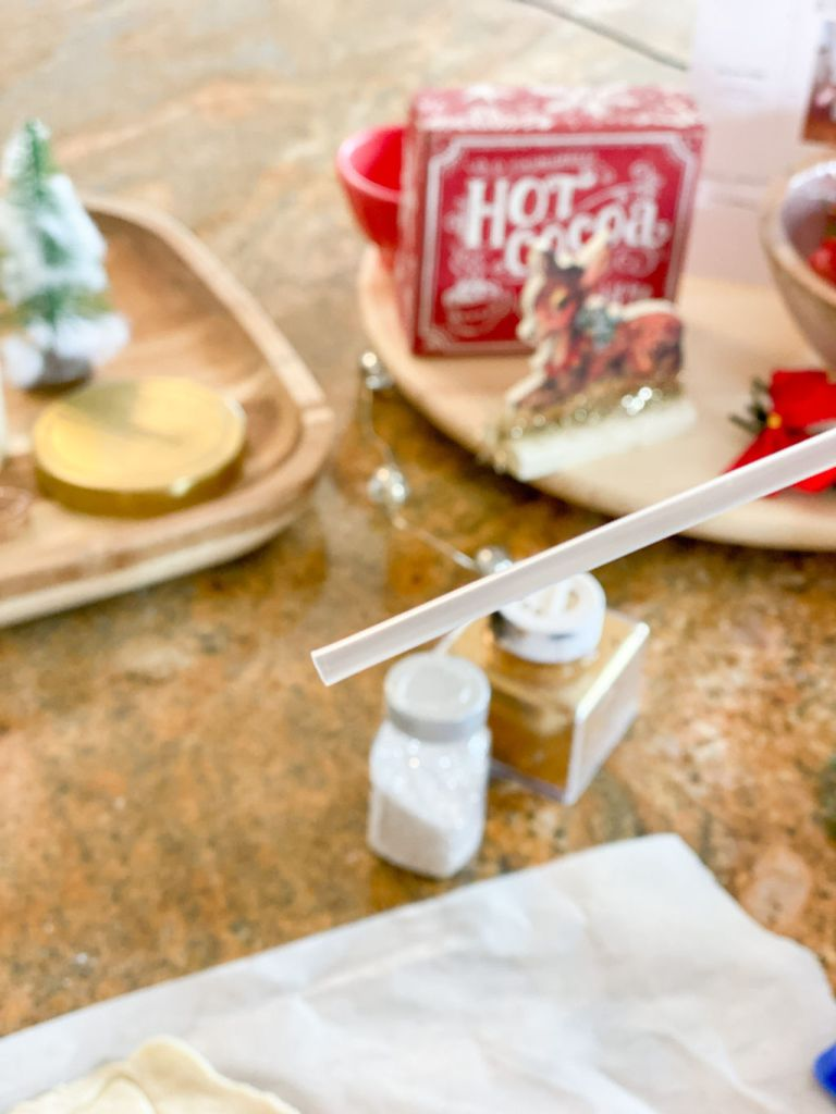 juice box straw for making ornament holes | Poplolly co