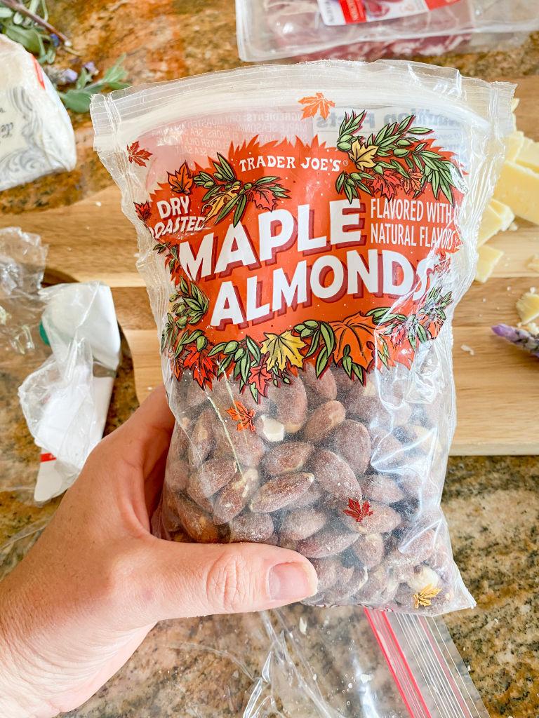 maple almonds for charcuterie board