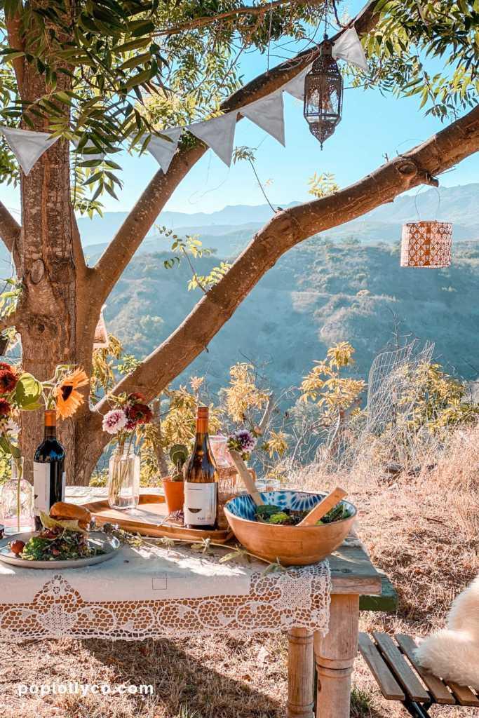dining al fresco outdoor decor dinner ideas boho | Poplolly co