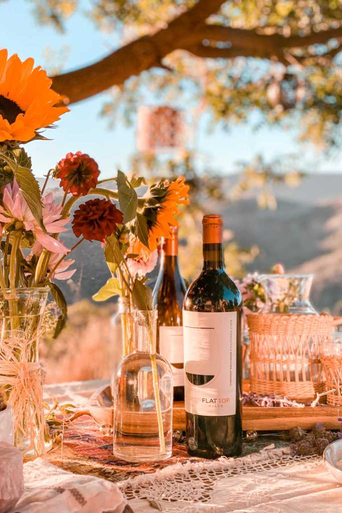 flat top hills wines with an al fresco dining experience | Poplolly co