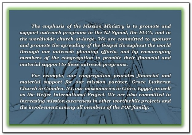 MISSIONS STATEMENT