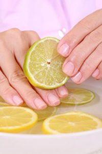 le citron ongles blancs