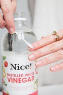 vinaigre blanc ongles blancs