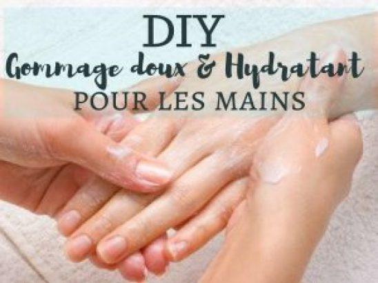diy gommage doux et hydratant pour les mains