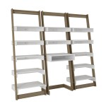 Mc Desk And Shelf Set Carpina Ladder Oak White