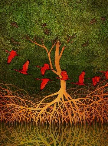 Arte feita exclusivamente para o festival pelo artista Michael Dudok. Foto: Divulgação
