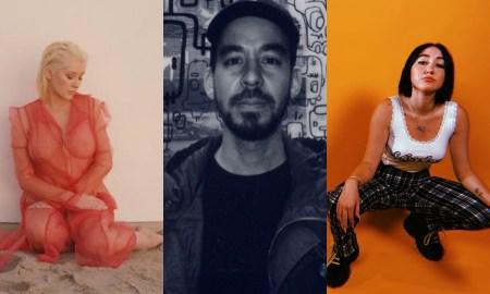 Christina, Mike Shinoda e Noah Cyrus. Foto: Reprodução/Instagram/PopNow