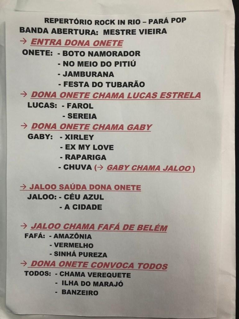 Setlist Pará Pop. Foto: Divulgação