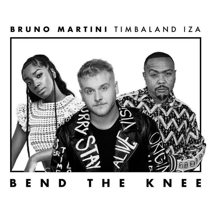 Bruno Martini, IZA, Timbaland. Foto: Divulgação