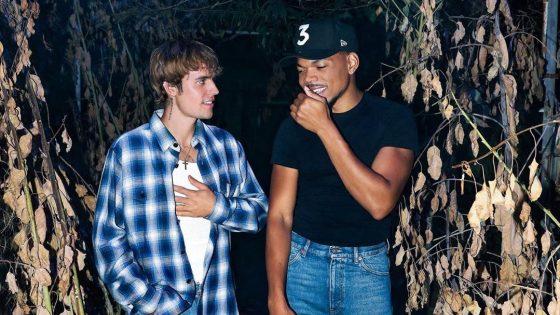 Justin Bieber e Chance The Rapper. Foto: Reprodução / Instagram (@justinbieber)