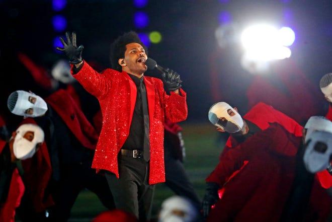 The Weeknd no halftime show. Foto: Mark J. Rebilas, USA TODAY Sports