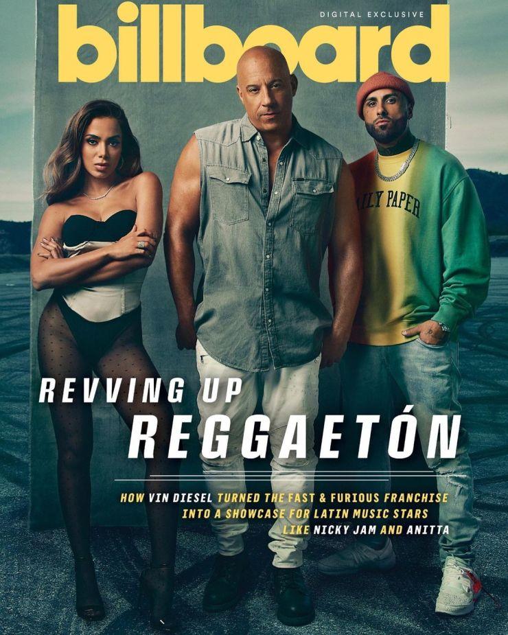 Anitta, Vin Diesel e Nicky Jam. Foto: Reprodução / Instagram (@vindiesel)