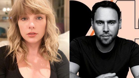 Taylor Swift e Scooter Braun. Foto: Reprodução / Instagram (@taylorswift/@scooterbraun)