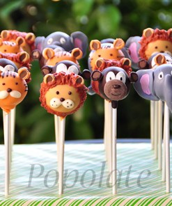 Lion and animal cake pops