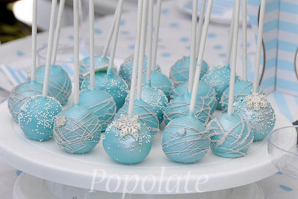Disney Frozen cake pops