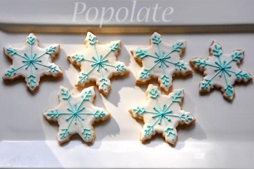 Frozen snowflake icicle cookies