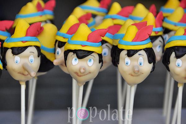 Disney's Pinocchio cake pops
