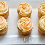 Rosette two-tone cupcakes