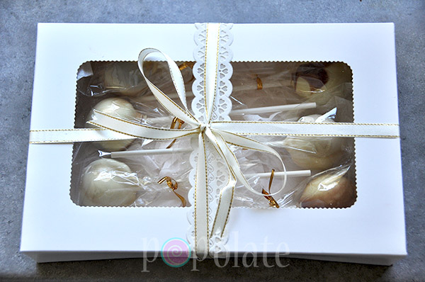Cake pops gift box birthday present delivered