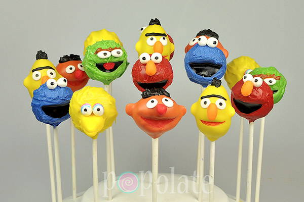Ernie Bert Oscar Elmo Cookie Monster pop cakes