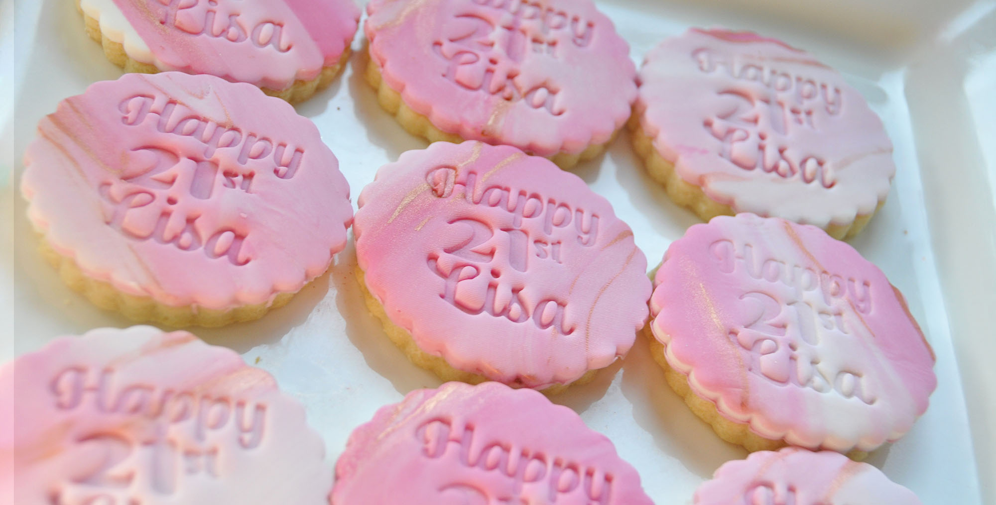 Custom personalised name stamp cookies