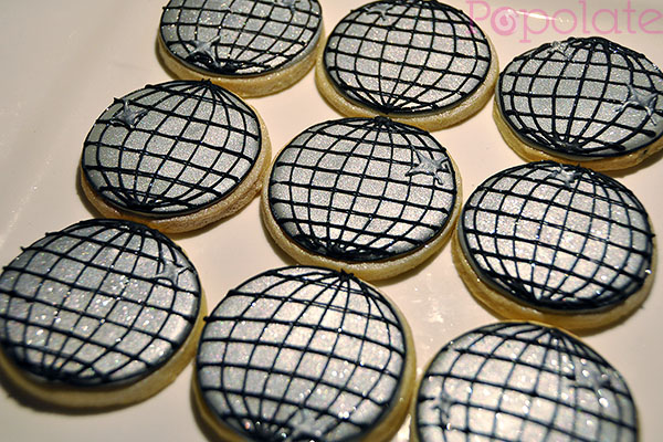 Disco ball cookies