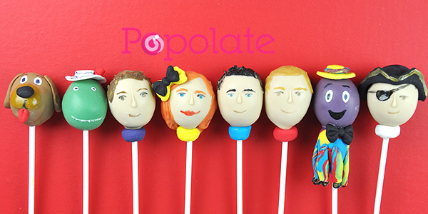 Lachlan, Anthony, Simon, Emma cake pops Wiggles Captain Feathersword