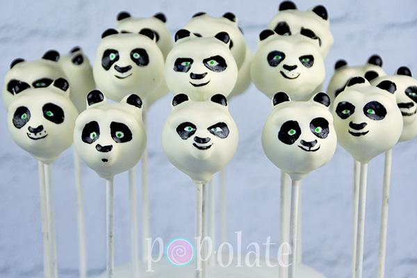 Po Kung Fu Panda cake pops