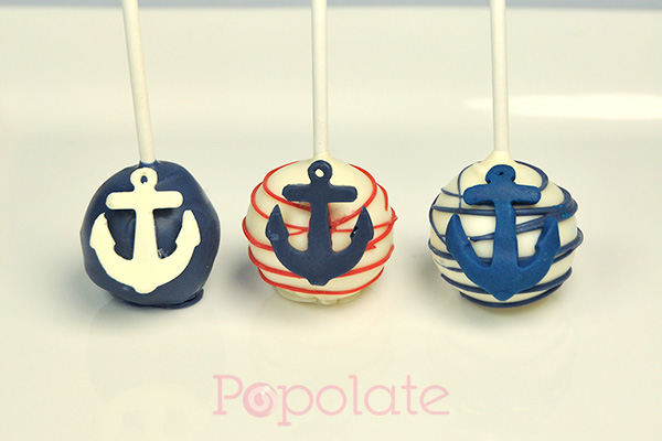 Nautical cake pops