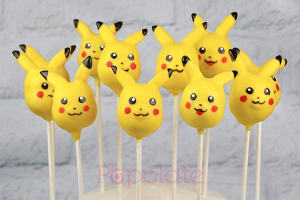Pikachu pokemon cake pops