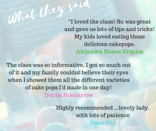 Cake pop class reviews