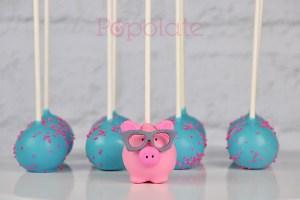 Spriggy pig cake pops