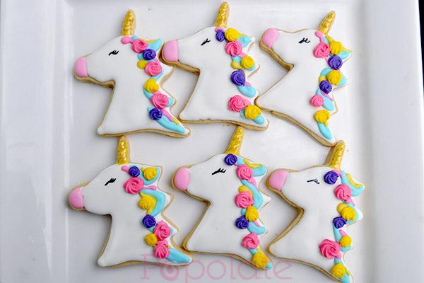 Pastel unicorn cookies