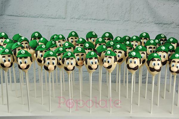 Luigi cake pops