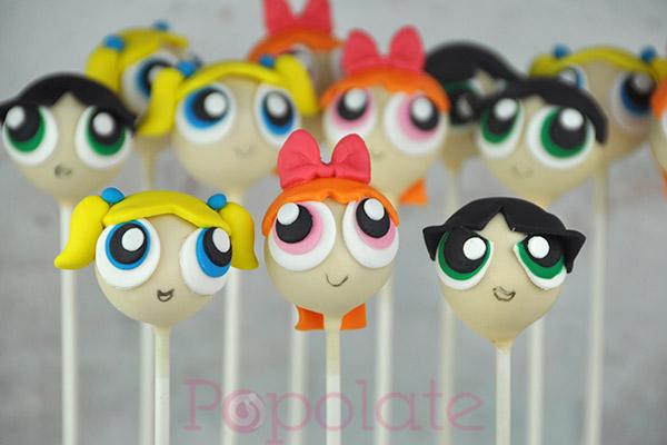 Powerpuff Girls Cake Pops Popolate