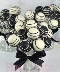 black and white cake pops