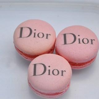 Dior pink macarons