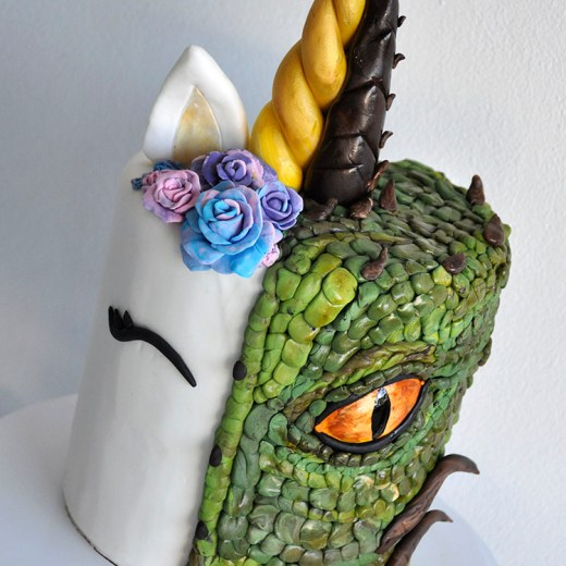 Dragon unicorn cake