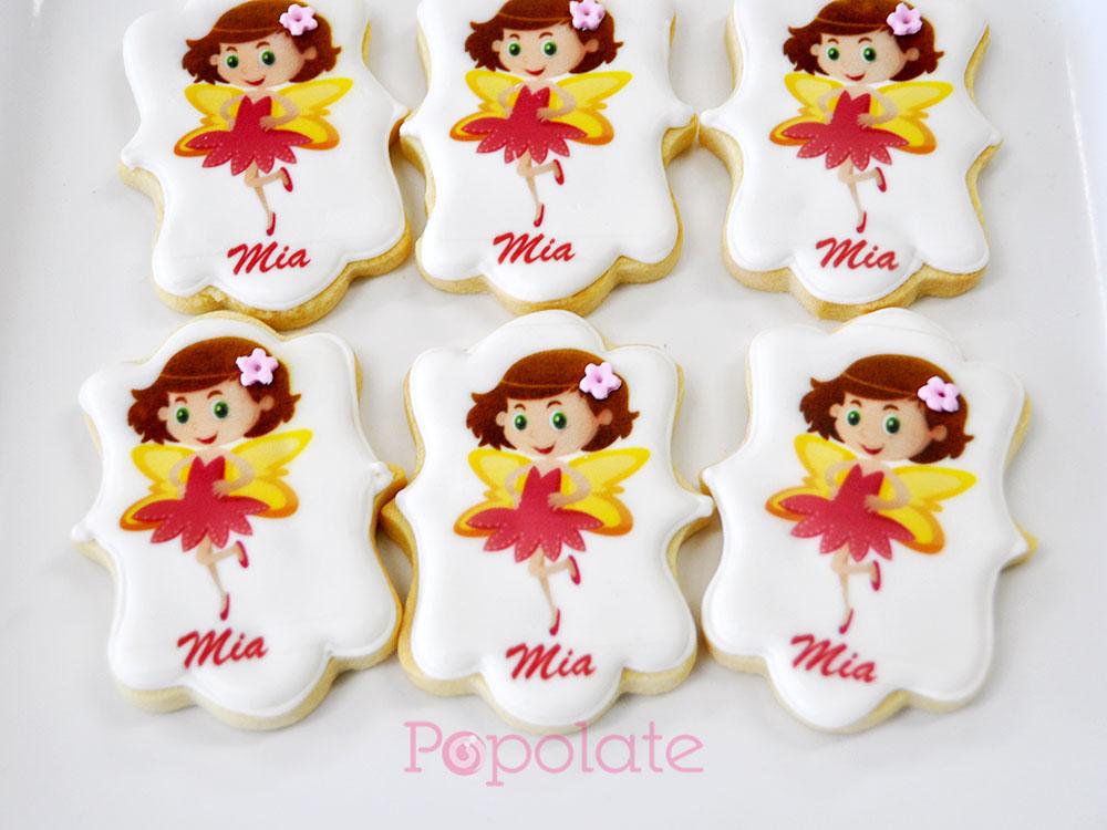 Fairy printed cookies