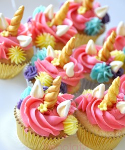 Unicorn Flower Cupcakes