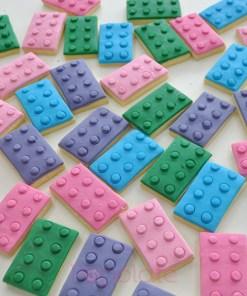 Lego building block cookies