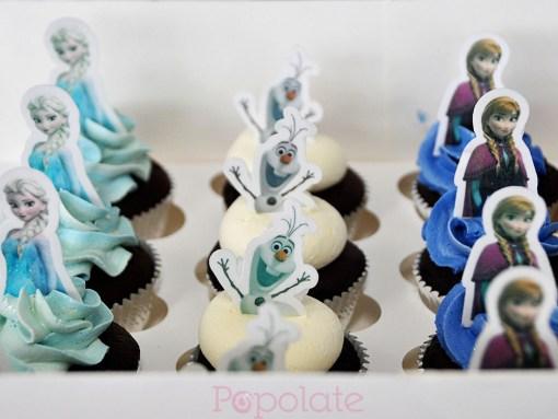 Frozen Disney cupcakes